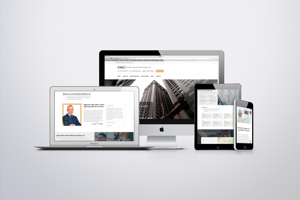 Law firm web design and branding project